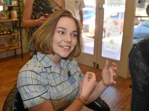 Cutting her hair to fight cancer