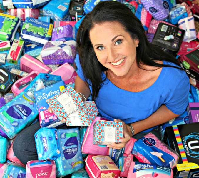 SUPPORT: Share the Dignity founder Rochelle Courtenay has plans to distribute 50 tampon vending machines by the end of the year.