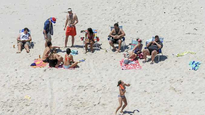 ROOM TO MOVE: New Jersey Governor Chris Christie (right) and friends.