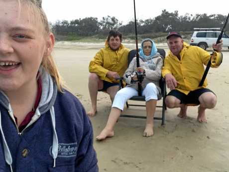 Enjoying their last fishing trip together as a family are (from left) Aimee, Robert, Michelle and Scott Corkin. Michelle succumbed to bile duct cancer about a month after the trip. Photo Contributed
