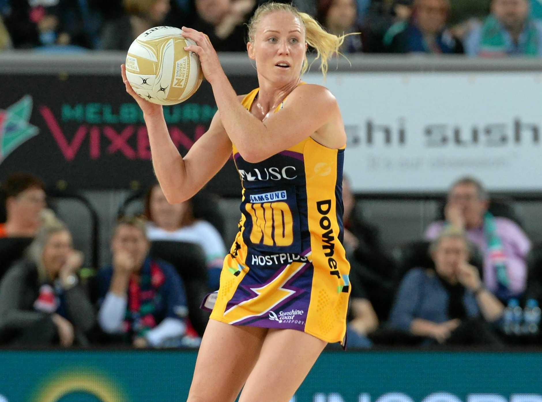 CAREER THREAT: Laura Langman has chosen to stay with the Sunshine Coast Lightning in 2018 despite the threat to her future with the New Zealand Silver Ferns.
