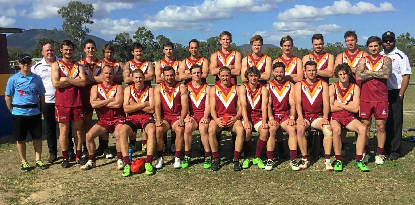 HONOUR: The men's AFL Mackay representative side included five Whitsunday Sea Eagles.