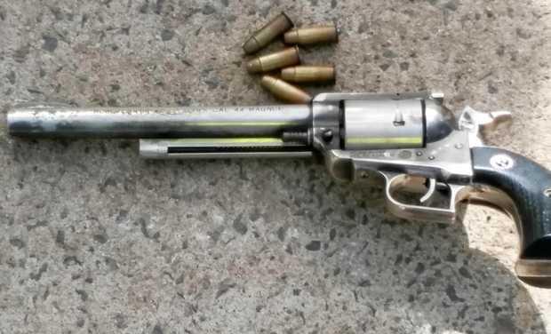 The .44 Magnum revolver found in a Lifelin charity donation bin.
