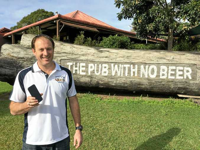 Publican Wade Clarke now has mobile coverage thanks to Telstra and the Federal Government's Mobile Black Spot Program.