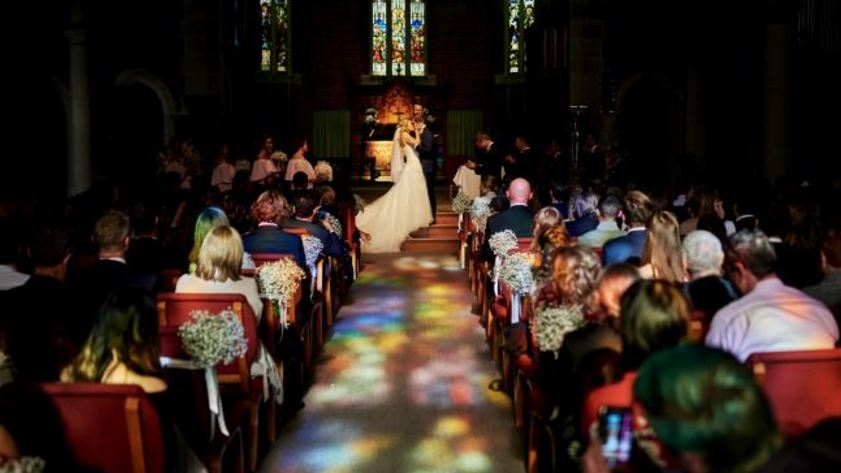Mike Baird's daughter gets married at St Matthew's Anglican Church in Manly.