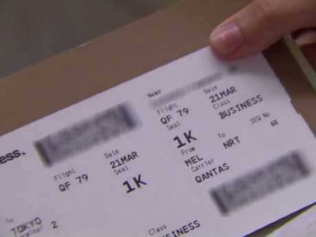 The boarding pass shown was shown on telly uncensored — but we've blurred out the important bits on this image.