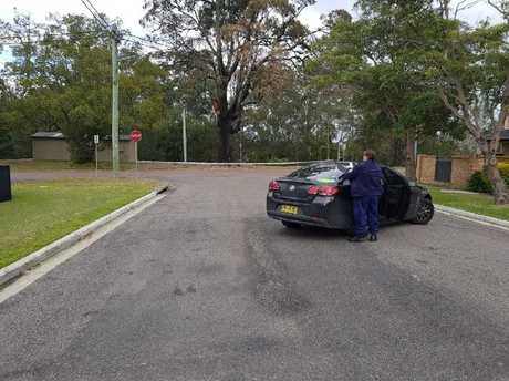 A second crime scene was established at Byron St. Picture: Ten News