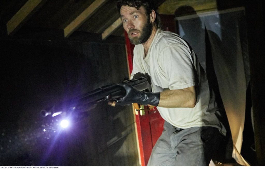 Joel Edgerton in a scene from the movie It Comes At Night.