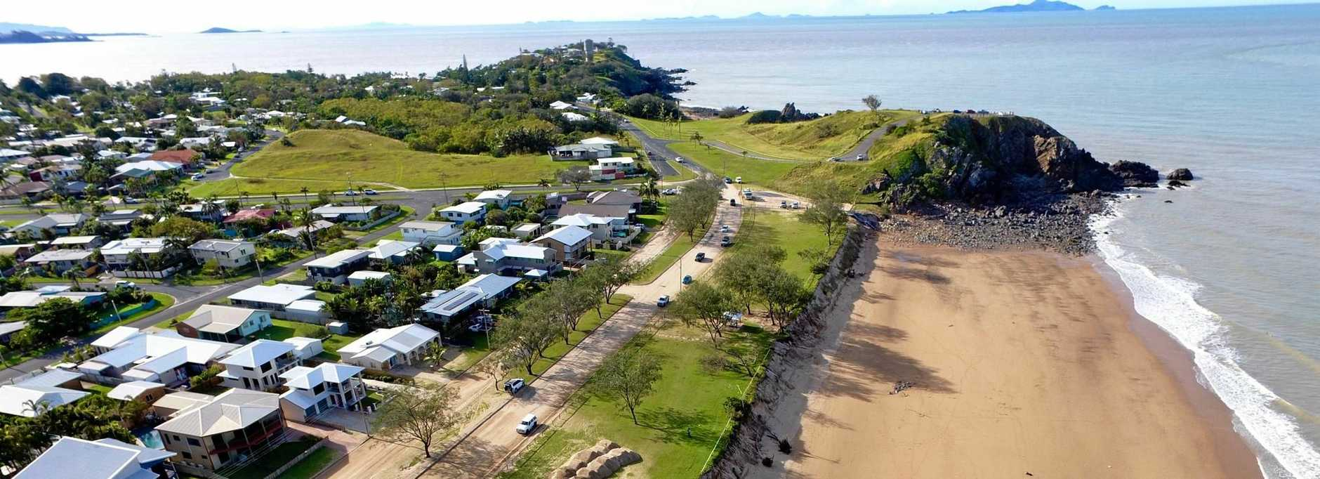 Damage after Cyclone Debbie tore through Lambert's Beach. Photos courtesy of Michael Kennedy/National Drones Mackay.