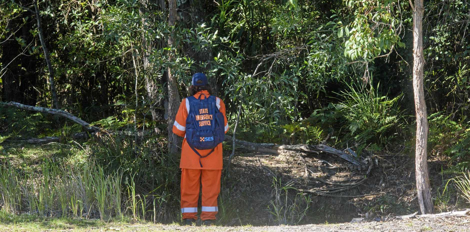 SES crews searched bushland in Yamba for a missing man, whose body was found on Tuesday afternoon.