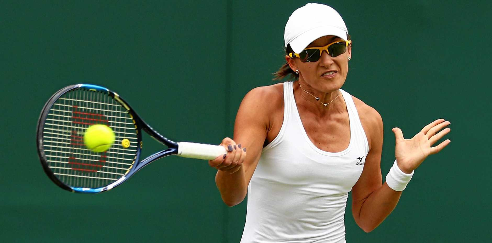 LONE AUSSIE: Arina Rodionova fended off seven match points to beat Anastasia Pavlyuchenkova and advance to the second round of Wimbledon. Rodionova is the only remaining Australian player in the round of 64.