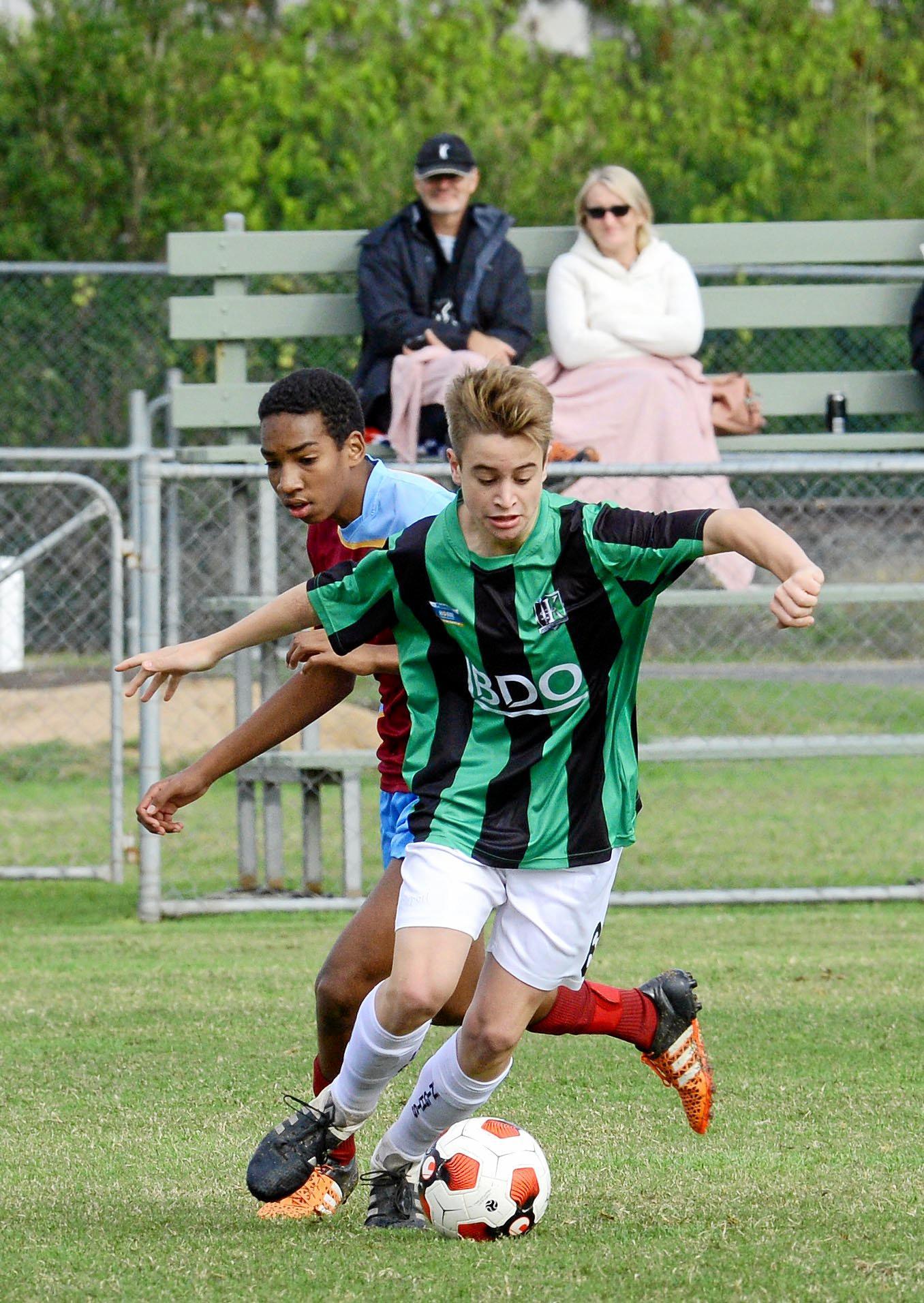 Ipswich Knights under-18 player Flyn Park.