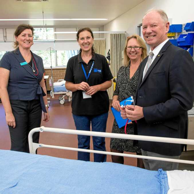 NEW FACILITY: NSW Government announces $3.2 million TAFE health training facility for Coffs Harbour Coffs Harbour Education Campus. TAFE staff Megan Hill and Janelle Powell joined TAFE NSW deputy regional general manager Di Paton and Coffs Harbour MP Andrew Fraser for the announcement.