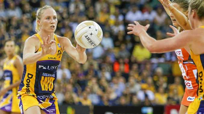 Laura Langman in action for the Sunshine Coast Lightning during the Super Netball grand final.