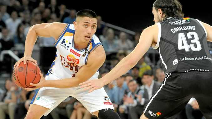 NEW DRAW: Brisbane Bullets star Reuben Terangi sizes up Melbourne United's Chris Goulding. The new NBL draw has been released and Brisbane will feature against Melbourne in a Boxing Day fixture at Melbourne's Hisense Arena.
