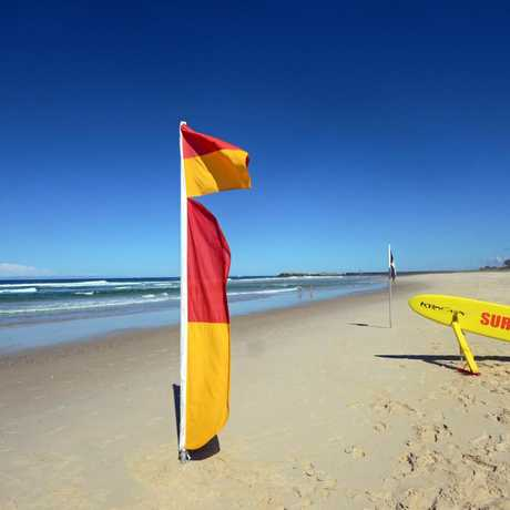 Surf lifesavers at Lighthouse Beach, East Ballina.