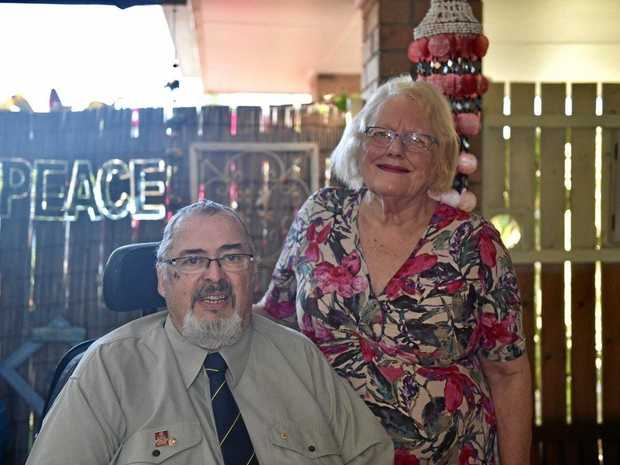 ROTARY EVENT: Polio survivors Bill Peacock and Susanne Rea.