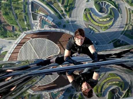 Cruise did his own stunts in Ghost Protocol.Source:Alamyruise did his own stunts in Ghost Protocol. Source: Alamy