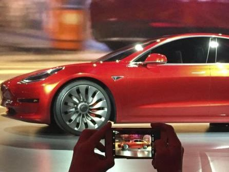 The new Climate Change Transition Strategy includes a focus on electric cars, like this new Model 3 from Tesla.