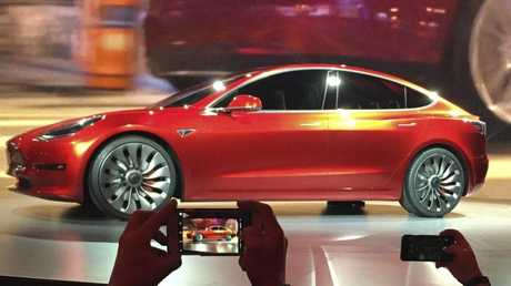 Tesla's cheap Model 3 is ahead of schedule, according to Elon Musk. Picture: Justin Pritchard