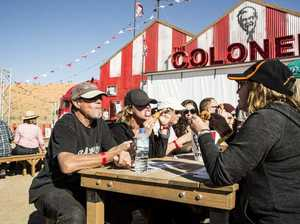 KFC's The Colonel a hit at Birdsville