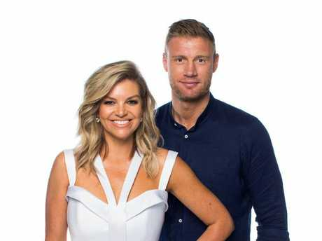 Rebecca Maddern and Andrew 'Freddie' Flintoff are hosts on Australian Ninja Warrior.