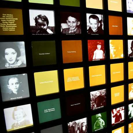 The faces of just some of the Jewish children lost in the Holocaust.