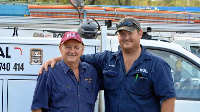 FATHER AND SON TEAM: Kevin and Chris Bowe say their business will continue to strengthen along with the Lockyer Valley.