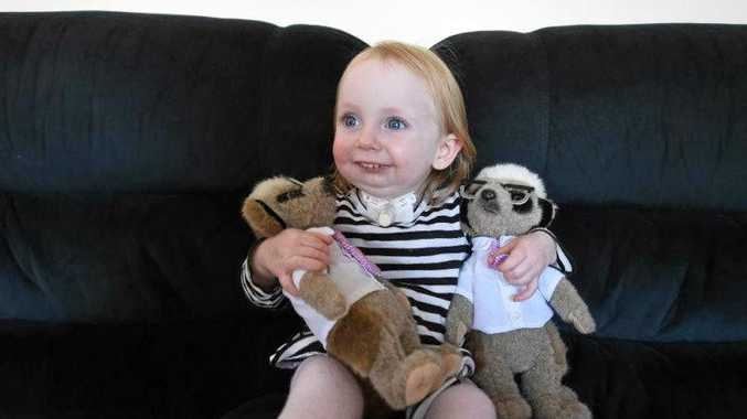 HEIDI-MAY Honess is believed to be the only toddler in Australia with a rare condition which has caused her jaw to stop growing.