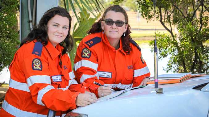 DYNAMIC DUO: Kimberley McMillan is following in her mother Annie's footsteps as a member of the Clermont SES Group.