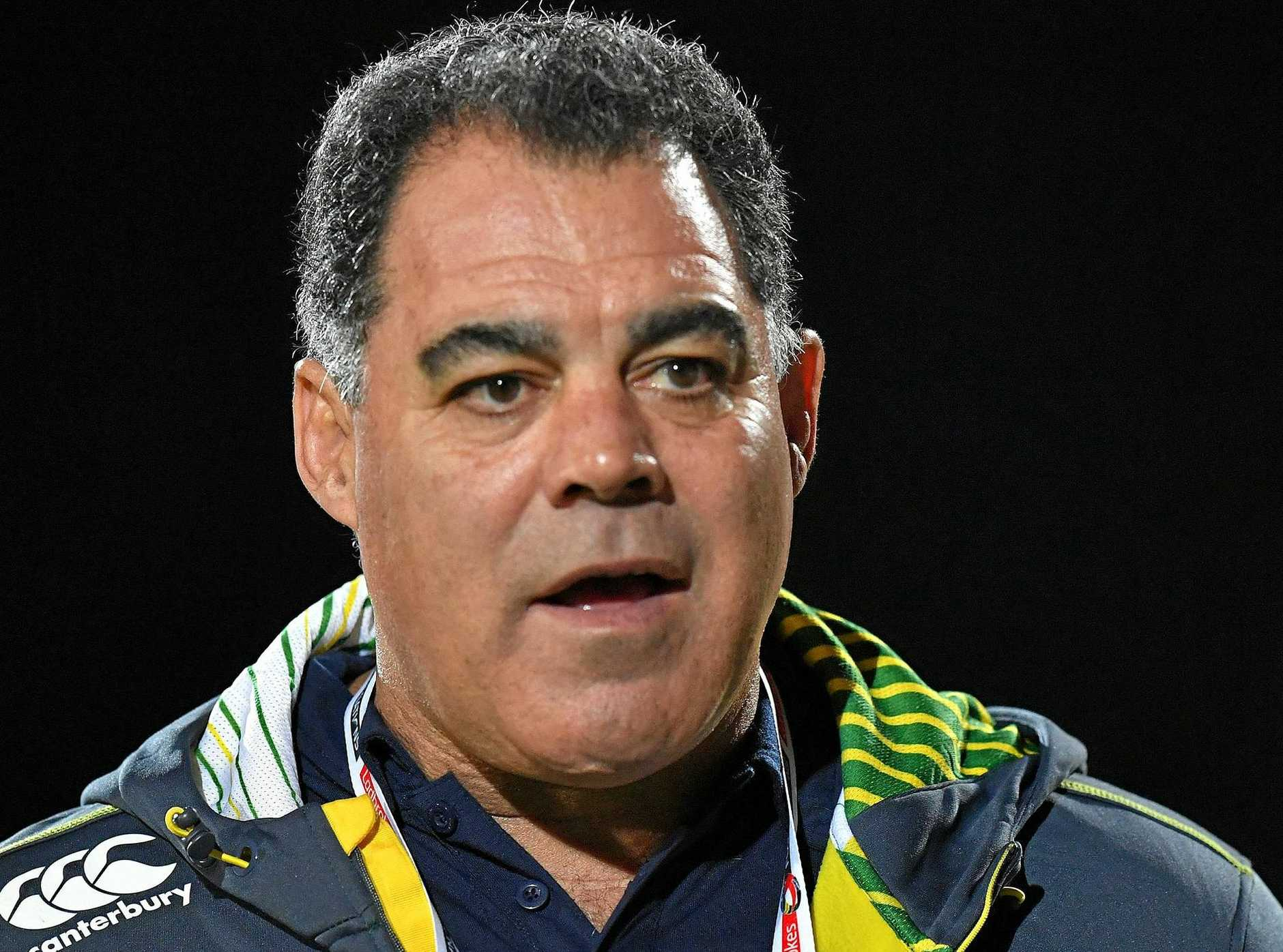 WISE WORDS: Australian head coach Mal Meninga shares his thoughts on the Jets.