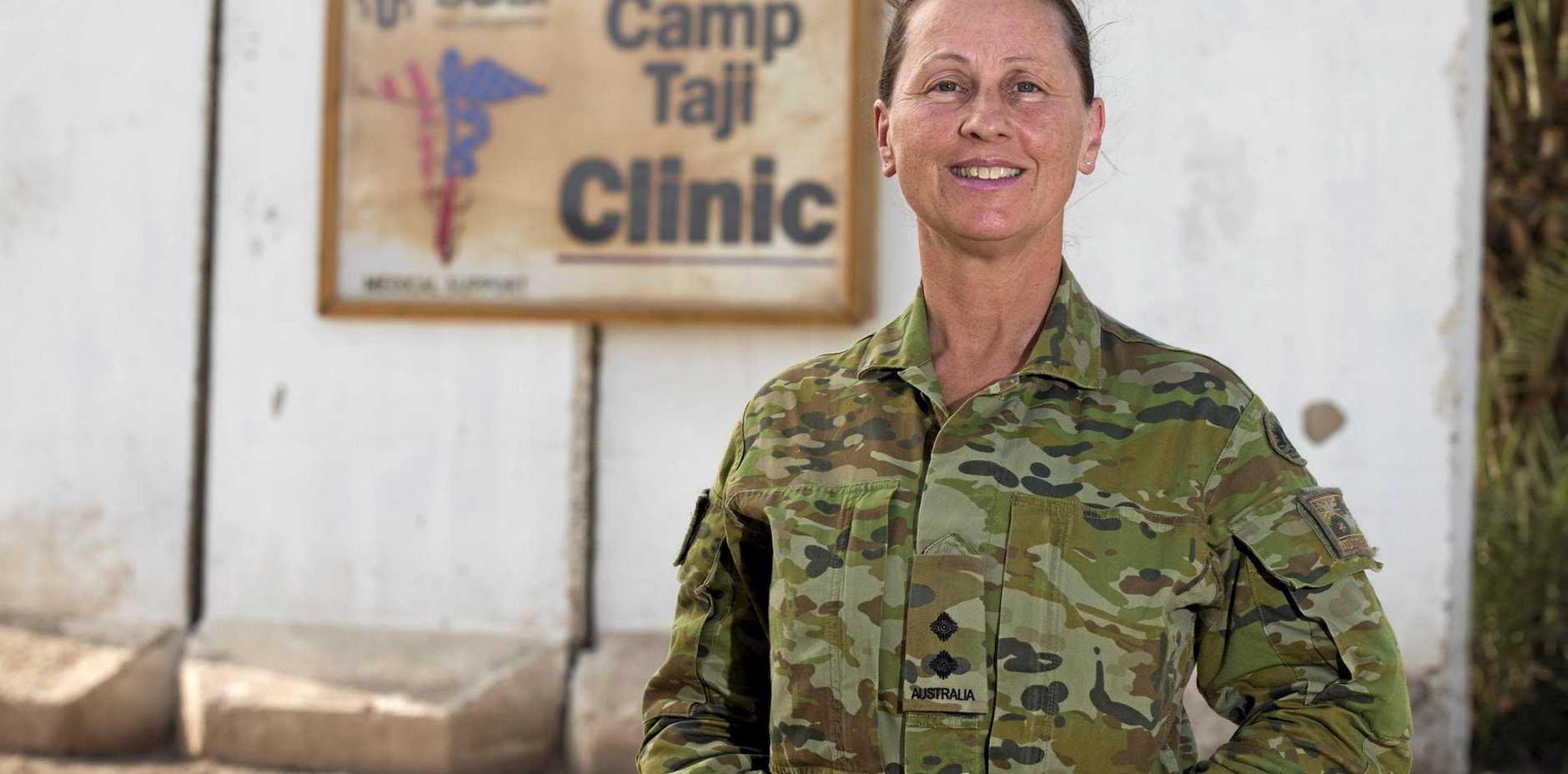 Australian Army officer Lieutenant Cheryl Liquorish of Pelican Waters has been deployed to Iraq with Task Group Taji 5.