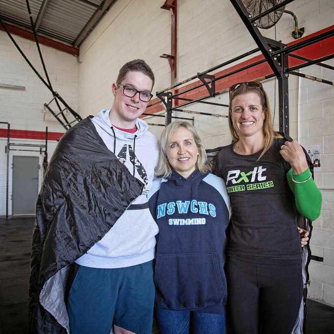 Jacob Sutton, Jana Truban and Victoria Wirth from CrossFit Woolgoolga.