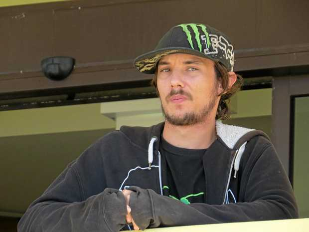 Harley Graham Case, 26, of North Mackay, outside Mackay Courthouse, has been placed on a 60-hour community service order by Mackay Magistrates Court.