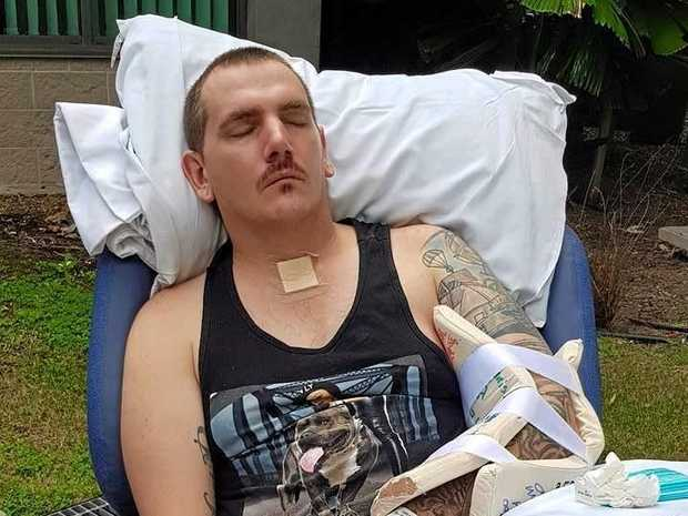 HOPE: Luke Buckton's family was told there was a 90% chance he wouldn't survive after he crashed his motorcycle but his recovery has amazed them.