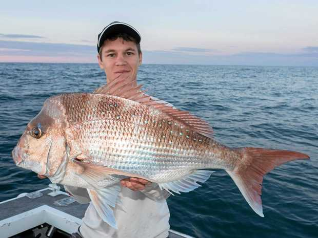 GOOD ONE: Matthew McEwan with a nice winter snapper.