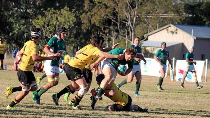 HARD FOUGHT: The Condamine Cods fought it out with the Goondiwindi Emus at The Fish Tank on the weekend.