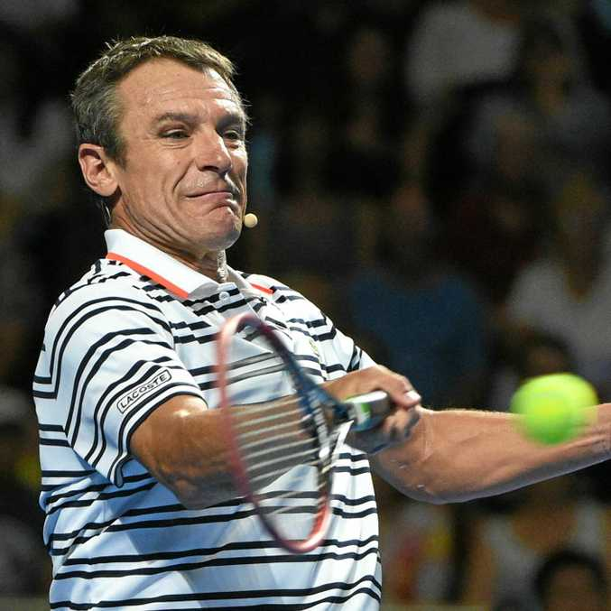 BIG CALL: Sweden's Mats Wilander (pictured during a match with Pat Cash in last year's Fast4 Tennis Tournament in Sydney) has praised Bernard Tomic's honesty in the wake of the Australian's Wimbledon controversy.