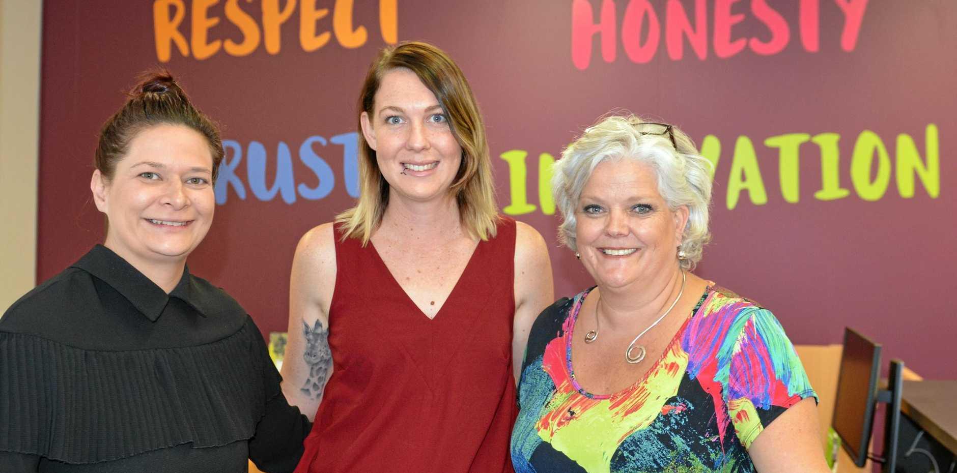 TWEED TEAM: Jarel Phillips, team leader Nicole Heffernan and regional manager Patricia Foulds.