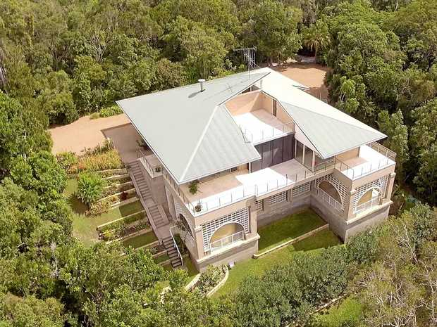 LUXURY: This home on Fingerfield Rd, Baffle Creek, is selling for $2.15 million. INSET: The view is pretty amazing.