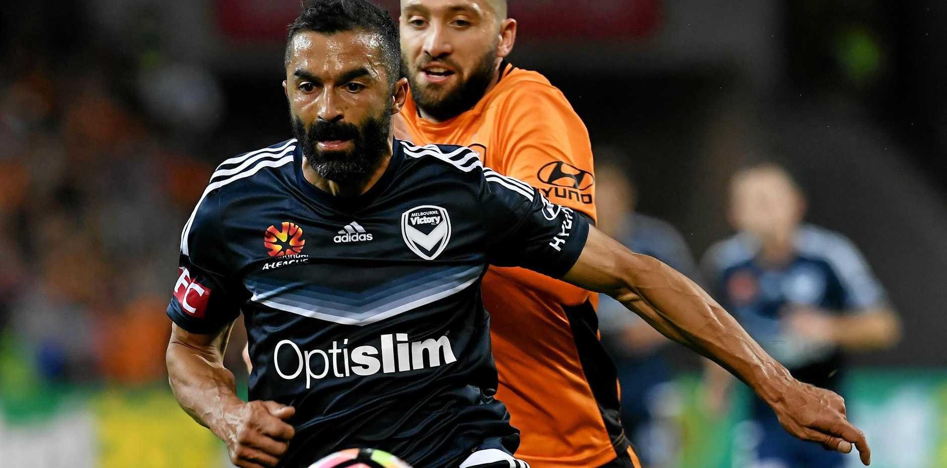 NEW ADDITION: Former Melbourne Victory star Fahid Ben Khalfallah has begun pre-season training with his new club Brisbane Roar.