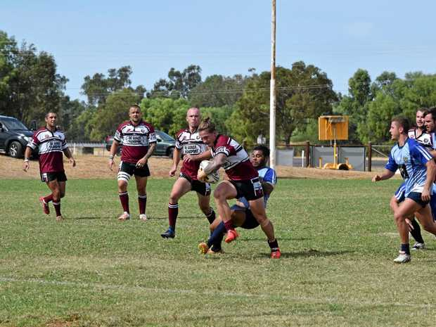 Rugby league action between Central Highlands and Bundaberg at last year's carnival.