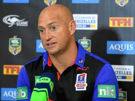 Knights coach Nathan Brown has all but given up hope of signing Cooper Cronk in 2018.