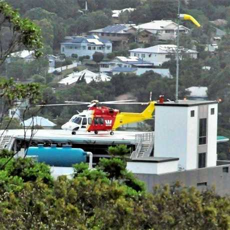The Westpac Rescue Lifesaver Helicopter assisted in the beach rescue.