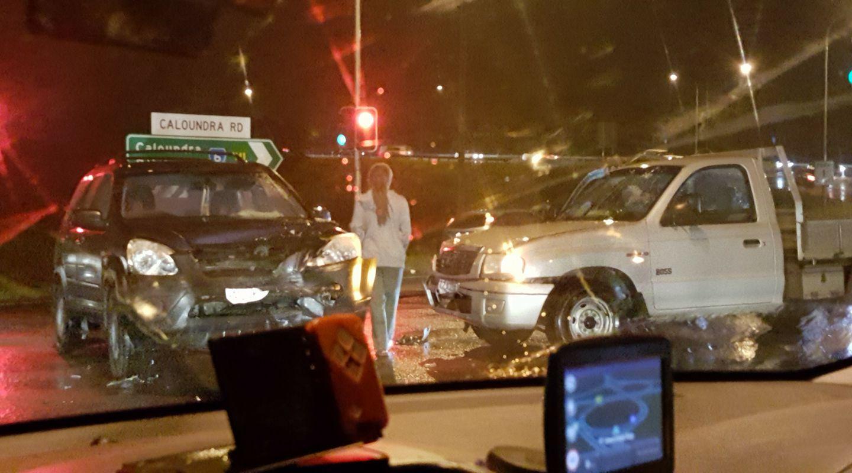 A crash on Caloundra Road caused delays last night.