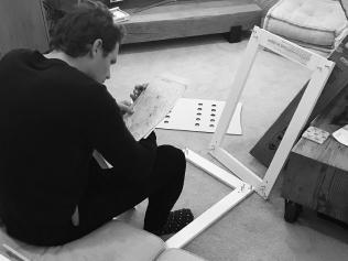 Patrick Dangerfield prepping the nursery for their baby. Source: Instagram/mardidangerfield
