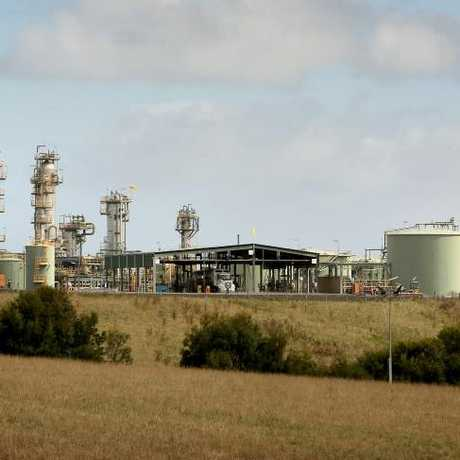 Origin's 'Otway' gas processing plant on top of the Iona gas field, near Port Campbell. Picture: Stuart McEvoy for The Australian.Source:News Corp Australia
