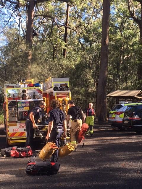 Rescue crews have descended on Mount Ngungun.