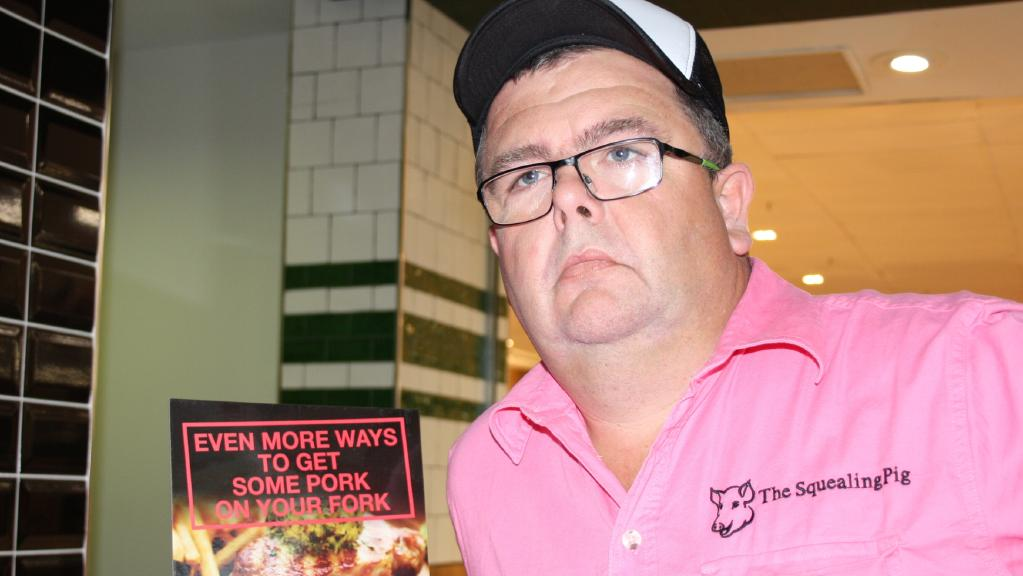 Gary Thompson says his business, The Squealing Pig, is being targeted by vegans, angry about the name.