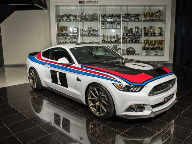 """DESIRE: Ford tuner Tickford has partnered with Allan Moffat to produce a run of 77 Bathurst '77 Special Edition Ford Mustangs. The company promises to """"significantly increase the Ford V8's power and torque"""", while the stunning tribute livery should help the car sell itself."""